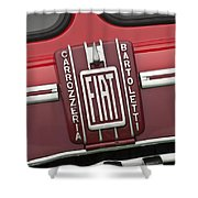1959 Fiat Tipo 682 Rn-2 Transporter Emblem Shower Curtain