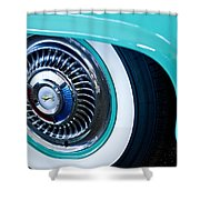 1959 Ford Ranchero Wheel Emblem Shower Curtain