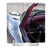 1959 Jaguar S Roadster Steering Wheel 2 Shower Curtain