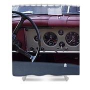 1959 Jaguar S Roadster Steering Wheel Shower Curtain