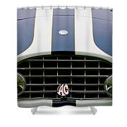1960 Ac Ace Roadster Grille Emblem Shower Curtain