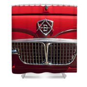1960 Autobianchi Bianchina Transformabile Coupe Hood Emblem Shower Curtain