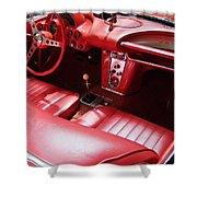 1960 Chevrolet Corvette Interior Shower Curtain