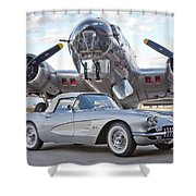 1960 Chevrolet Corvette Shower Curtain
