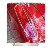 1960 Chevrolet Corvette Tail Light Shower Curtain