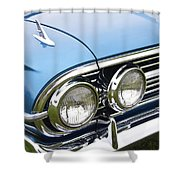 1960 Chevrolet Impala Front End Shower Curtain