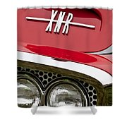 1960 Plymouth Xnr Ghia Roadster Grille Emblem Shower Curtain