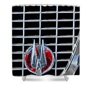 1960 Studebaker Hawk Coupe Emblem Shower Curtain