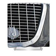 1960 Studebaker Hawk Grille Emblem Shower Curtain