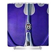 1960 Volkswagen Vw Bug Hood Emblem Shower Curtain