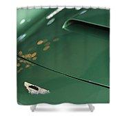 1961 Aston Martin Db4 Series Iv Hood Emblem Shower Curtain