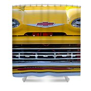 1961 Chevrolet Grille Emblem Shower Curtain