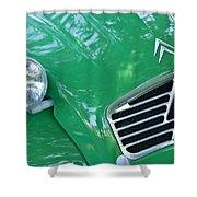 1961 Citroen 2cv Landaulet Hood Emblem Shower Curtain