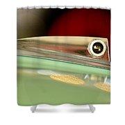 1961 Ford Galaxie Convertible Hood Ornament Shower Curtain