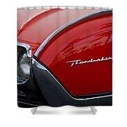 1961 Ford Thunderbird Headlight Emblem Shower Curtain