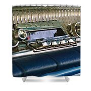 1961 Pontiac Catalina Radio Shower Curtain