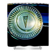 1961 Pontiac Catalina Steering Wheel Emblem Shower Curtain