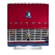 1961 Triumph Tr3a Roadster Grille Emblem Shower Curtain