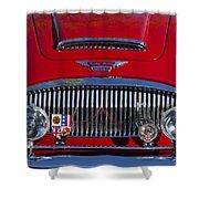 1962 Austin-healey 3000 Mkii Grille Shower Curtain