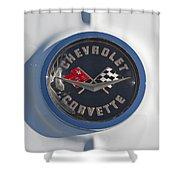 1962 Chevrolet Corvette Emblem 4 Shower Curtain