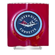 1962 Chevrolet Corvette Emblem Shower Curtain