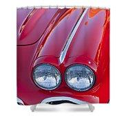 1962 Chevrolet Corvette Headlight Shower Curtain