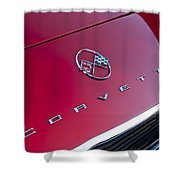 1962 Chevrolet Corvette Hood Emblem 3 Shower Curtain