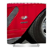 1962 Chevrolet Corvette Wheel Shower Curtain