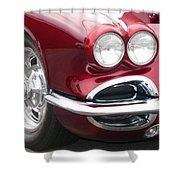 1962 Corvette Shower Curtain