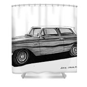 1962 Rambler American Shower Curtain