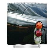 1963 Aston Martin Db4 Series V Vantage Gt Tail Light Shower Curtain by Jill Reger