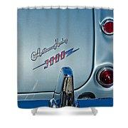 1963 Austin-healey Taillight Shower Curtain