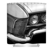 1963 Buick Riviera B/w Shower Curtain