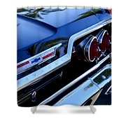 1963 Chevrolet Taillight Emblem Shower Curtain