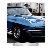 1963 Corvette Shower Curtain