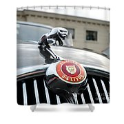 1963 Jaguar Emblem Shower Curtain