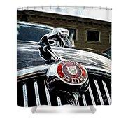 1963 Jaguar Mkii Fantasy Car Shower Curtain