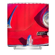1963 Red Porsche Shower Curtain