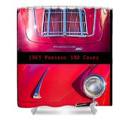 1963 Red Porsche S90 Coupe Poster Shower Curtain