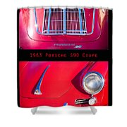 1963 Red Porsche S90 Coupe Poster S Shower Curtain
