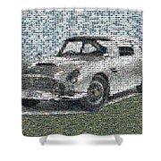 1964 Aston Martin Mosaic Shower Curtain