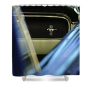 1964 Ford Mustang Emblem Shower Curtain