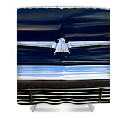 1964 Ford Thunderbird Emblem Shower Curtain
