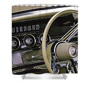 1964 Ford Thunderbird Steering Wheel Shower Curtain