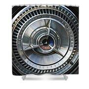 1964 Ford Thunderbird Wheel Rim Shower Curtain