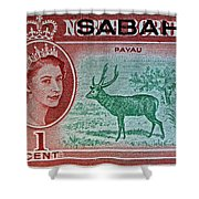 1964 North Borneo Sabah Stamp Shower Curtain