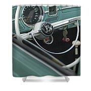 1964 Volkswagen Vw Steering Wheel 2 Shower Curtain