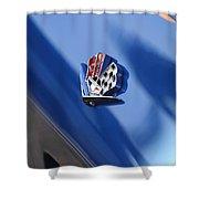 1965 Chevrolet Corvette Emblem Shower Curtain