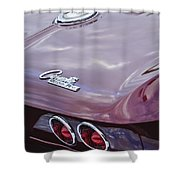 1965 Chevrolet Corvette Tail Light Shower Curtain