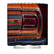 1965 Chevrolet Malibu Ss Taillight Emblem Shower Curtain